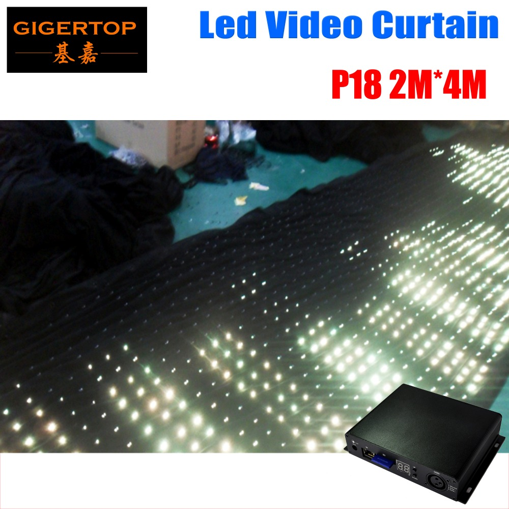 Freeshipping 2 mtr x 4 mtr P18 Matrix LED RGB DJ Party Garden Star Video Curtain Backdrop for Home Garden Birthday Party