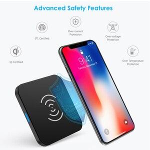 Image 2 - CHOETECH chargeur sans fil anti dérapant en caoutchouc 5W Qi chargeur de charge avec câble Micro USB pour Samsung S8 Note 8 pour iPhone X 8