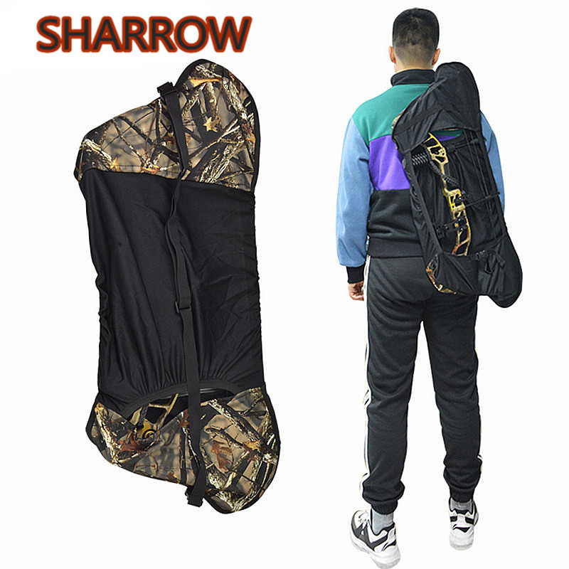 1Pc Archery Camouflage Bow Bag Compound Bow Bag Backpack Bag For Compound Bow Outdoor Hunting Shooting Archery Accessories