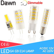 LED G4 Light G9 Led Lamp E14 Bulb 7W 9W 10W 12W COB 2835SMD 220V AC12V No Flicker Dimmable Ceramic Replace 30/40W halogen lamp(China)