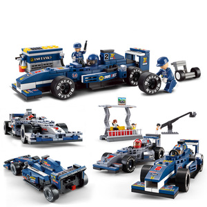 SLPF Racing Car Assemble Model Kits Compatible Legoings Technic Educational Building Blocks Toys For Children Birthday Gifts K22