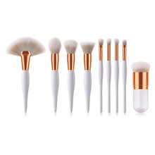 BBL 9pcs Premium Makeup Brush Set Unique Kabuki Powder Large Fan Blush Highlighter Eyeshadow Blender Brush Brochas Maquillaje(China)