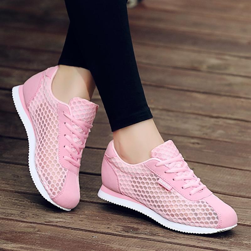 Hot Sale Tenis Feminino 2018 Brand Light Soft Sport Shoes Women Tennis Shoes Female Stability Walking Sneakers Trainers Cheap
