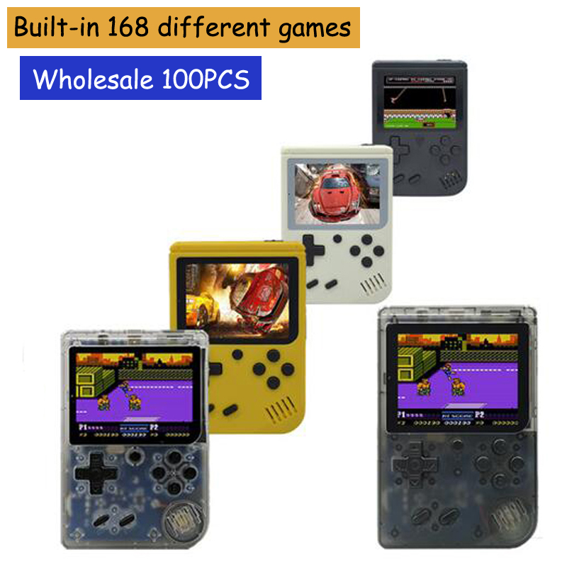 100PCS RS 6 T Retro Portable Mini Handheld Game Console 8