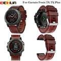 עור חדש שעון יד רצועת קל fit מהיר צמיד חגורה 26 MM עבור Garmin Fenix 3/Fenix 5X 5X בתוספת חכם שעון להקת צמיד