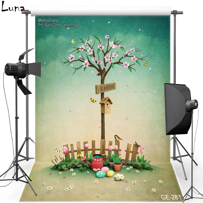 MEHOFOTO Happy Easter Vinyl Photography Background For Cartoon Flower New Fabric Flannel Backdrop For photo studio Props 281 mehofoto night sky vinyl photography background for baby dark clouds new fabric flannel backdrop for wedding photo studio f2724