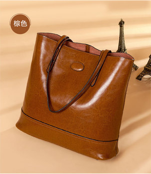 Camelia Tote Bag Genuine Cow Leather Fashion Handbag