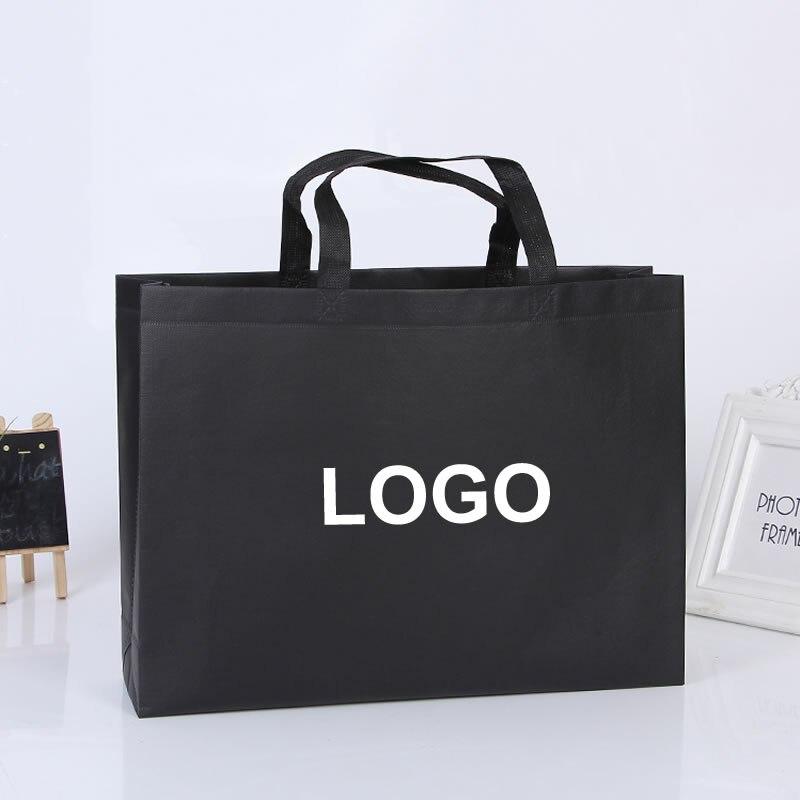 Custom high quality Environment Friendly reusable print LOGO shopping gift non woven bag with glossy lamination