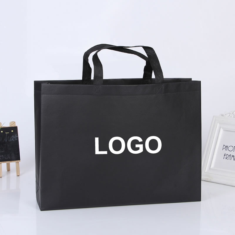 Custom high quality Environment Friendly reusable print LOGO shopping gift non woven bag with lamination glossy
