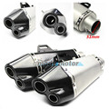 Universal Carbon Fiber real carbon with sticker steel CNC 51mm Motorcycle Exhaust Muffler Pipe Escape Moto Fit for Most motor