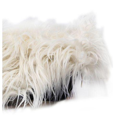 Baby Newborn Faux Fur Photography Photo Props Blanket Basket Stuffer Rug Beanbag Background Backdrop Beige