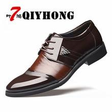 2018 Leather Men'S Dress Shoes Men'S Shoes Fashion Flats Round Toes Comfort Office Men'S Casual Shoes XL 38-45