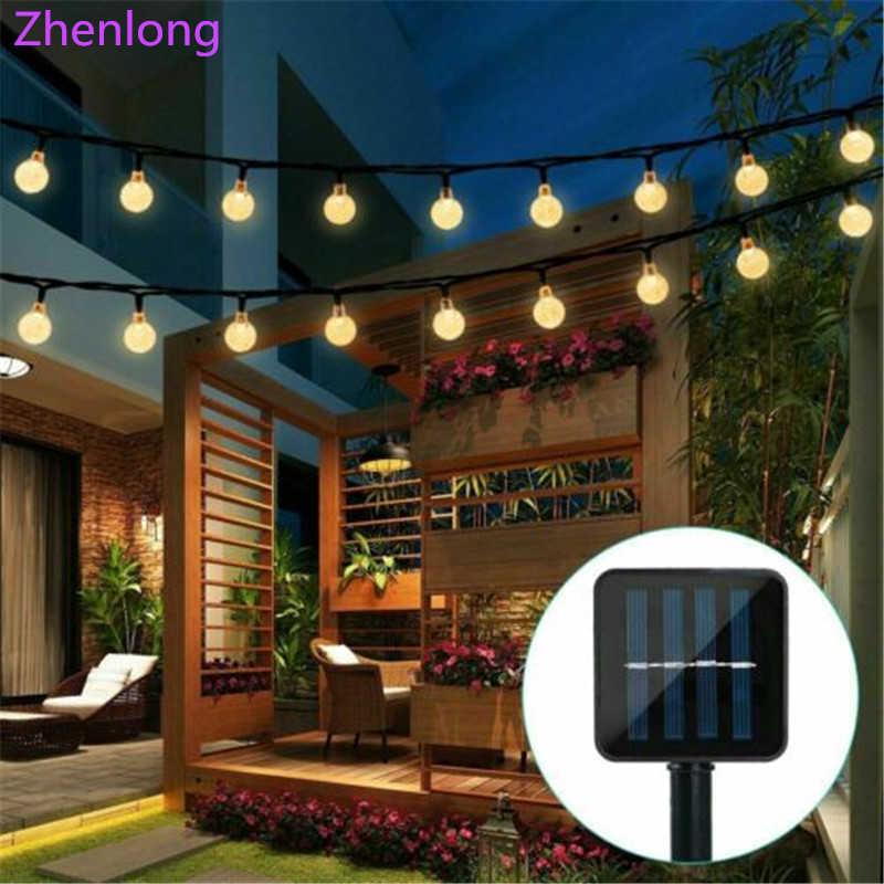 alimentado por energia solar 30 led cadena de luz decoracion de patio de sendero de jardin al aire libre lampara impermeable solar luces de navidad