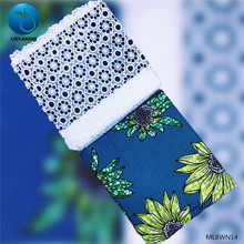 LIULANZHI Prints Wax Flower Ankara Fabric 3 yards + French Lace Tulle 2.5 Free Shipping ML8WN14