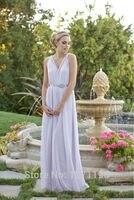 2015 New Fashion Long Sexy Silk Chiffon Bridesmaid Dresses Wedding Party Gown Vestido De Festa Longo
