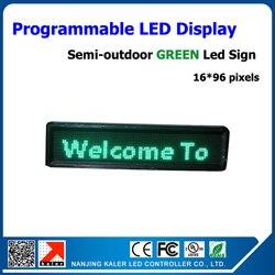 Do biegania tekst ekranu P10 częściowo na zewnątrz wyświetlacz LED zielony kolor przewijanie wiadomość wyświetlacz Led 24*104 cm P10 kryty zielony wyświetlacz Led