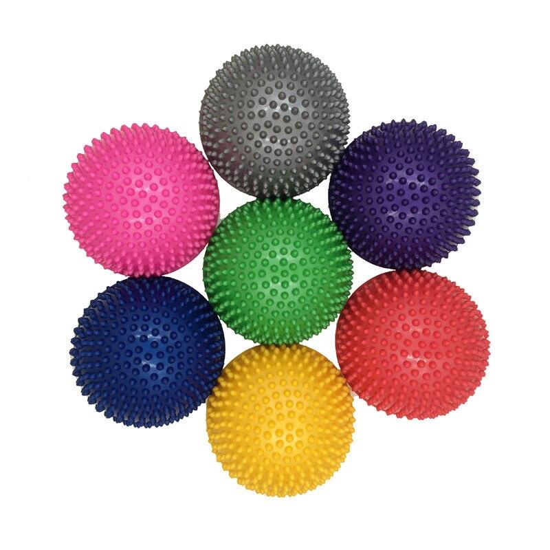PVC inflable de la mitad Yoga bolas de equilibrio Punto de masaje Bola de  encaje ejercicios entrenador estabilizador gimnasio Pilates Fitness Bosu  pelota ... 3afc6b417b59