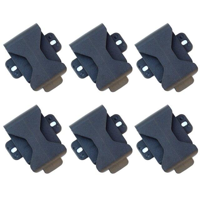 6 pièces QingGear 360 degrés Rotation ceinture pince pour gaine étui spécial pour bricolage couteau, outil extérieur