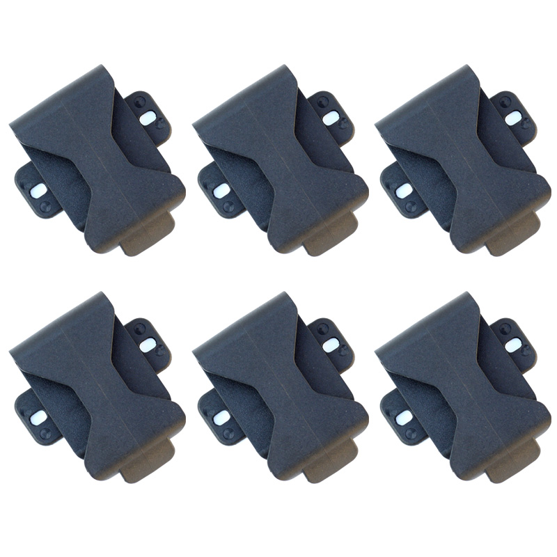 6PCS QingGear 360 Degree Rotation Belt Clip For Sheath Holster Special for DIY Knife, Outdoor Tool