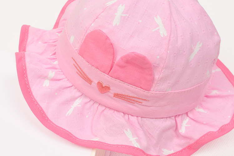 07b7013ba62e4 Cartoon Cat Cap for Girls Bucket Hat Baby Girls Sun Cap Lovely Infant Baby  Summer Hat Spring 2018 Lovely Baby Accessories-in Hats   Caps from Mother    Kids ...