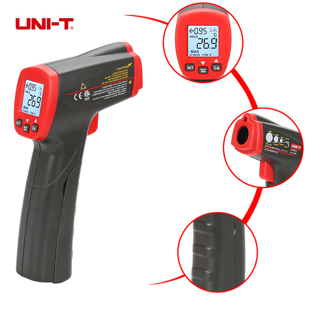 UNI-T UT300S IR Digital Infrared Thermometer Non-contact Temperature Instruments Laser Gun Industrial SCAN Measure