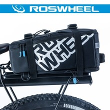 ROSHWEEL 5L MTB Cycling Bicycle Bag Bike Rear Rack Tail Saddle Seat Trunk Bag Pannier Portable Luggage Handbag Shoulder Bag