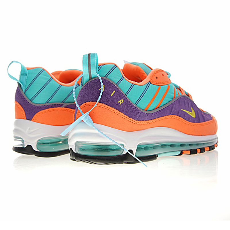 wholesale dealer 00d86 73605 NIKE AIR MAX 98 QS Men s Running Shoes,Non slip Blue   Purple   Orange,  Shock Absorption Breathable Wear resistant 924462 800-in Running Shoes from  Sports ...