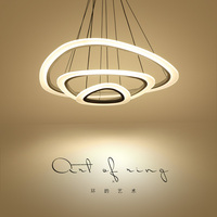 Modern LED Lustre Chandelier Luxury Ring Living Room Led Lamp Arc Triangle Hanging Lighting Fixtures Adjustable