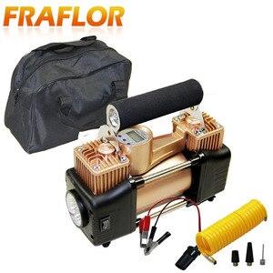 Image 1 - 자동차 타이어 타이어 팽창기 휴대용 금속 자동차 자동 전기 펌프 공기 압축기 더블 실린더 디지털 공기 압축기