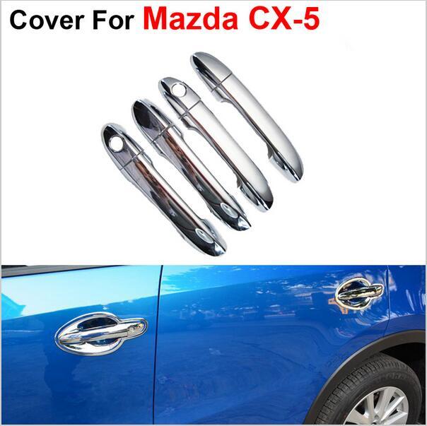 Prix pour 4 pcs/lot Poignée De Porte Pour Mazda CX-5 CX 5 CX5 2013 2014 2015 Accessoires De Voiture Style De Mode Autocollants Couverture ABS