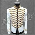 HOT New Men suit coat star ABC singer stage costumes clothing MJ Michael Jackson concert formal dress Bar nightclub jacket
