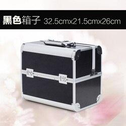 Maleta De Maquiagem Profissional Kosmetik Tasche Kosmetikerin Große Kapazität Reise Lagerung Koffer Solide Make-Up Fall Veranstalter