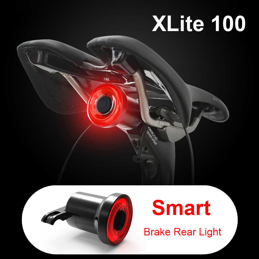 Xlite100 Smart Bike LED Tail Light USB Rechargeable Auto Start Stop Brake Sensor