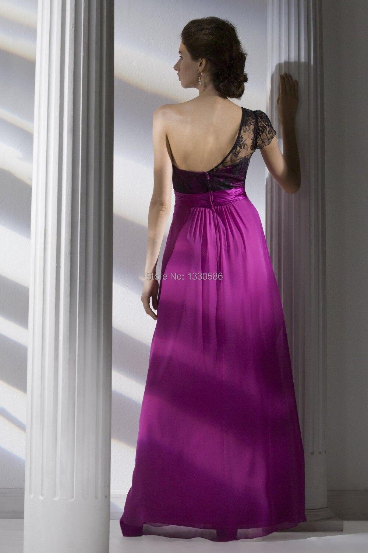 Encantador Vestidos De Dama De Encaje Negro Ideas Ornamento ...