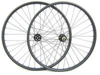 EN Test 29er Full Carbon MTB Wheels 25mm Deep Clincher Mountain Bike Wheels35mm Width Aero Spokes Novatec D791SB D792SB
