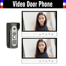 9 inch big monitor video door phone system video intercom doorbell doorphones kit for home intercom IR night vision 2-Screen