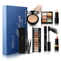 Christmas Gift Makeup Set Eyeshadow Palette Sexy Lipstick Concealer Makeup Eye Mascara Eyebrow Pencil Gift Card