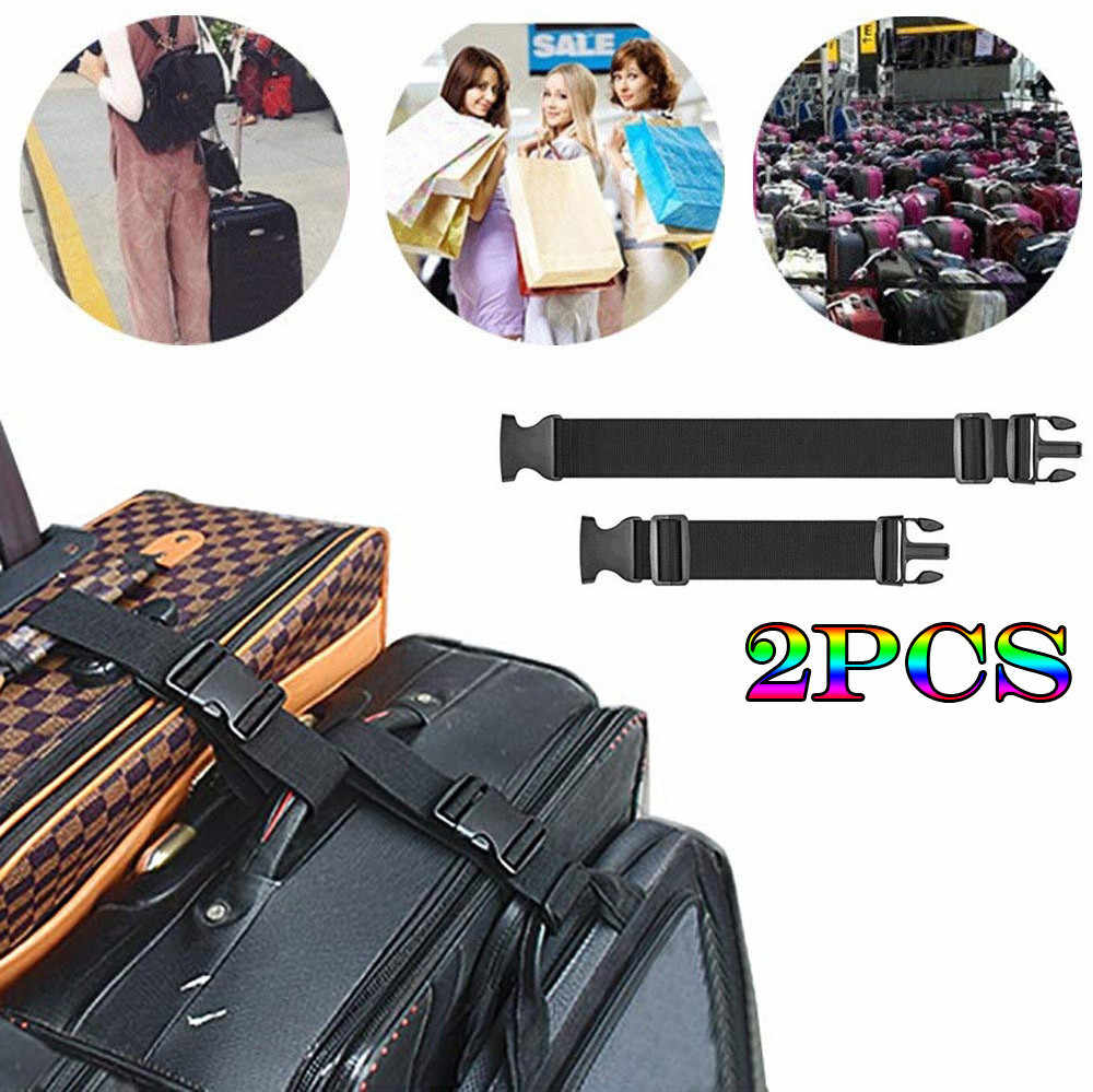2pcs Two Add a Bag Luggage Strap Travel Luggage Suitcase Adjustable belt Travel Hot Sale High Quality 2019 New Patterns Modern