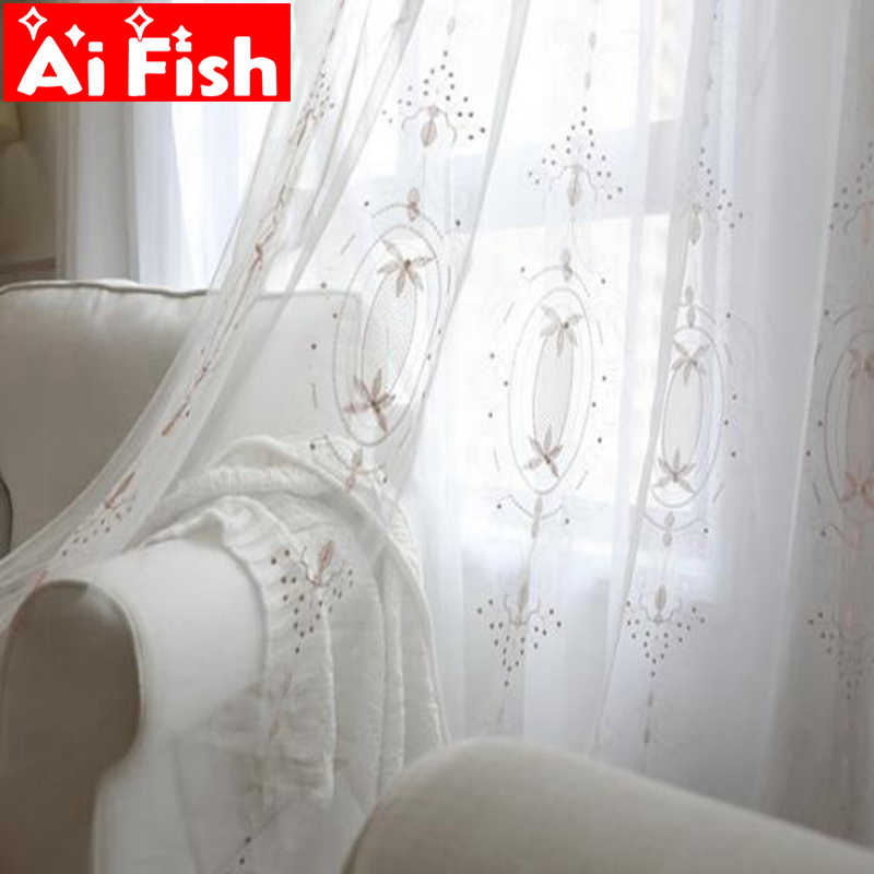 Romantic Europe Pink Embroidered Pearl Lace Tulle Girls Curtains Window Screening Sheer Voile Cortinas For Living Room MY051-30