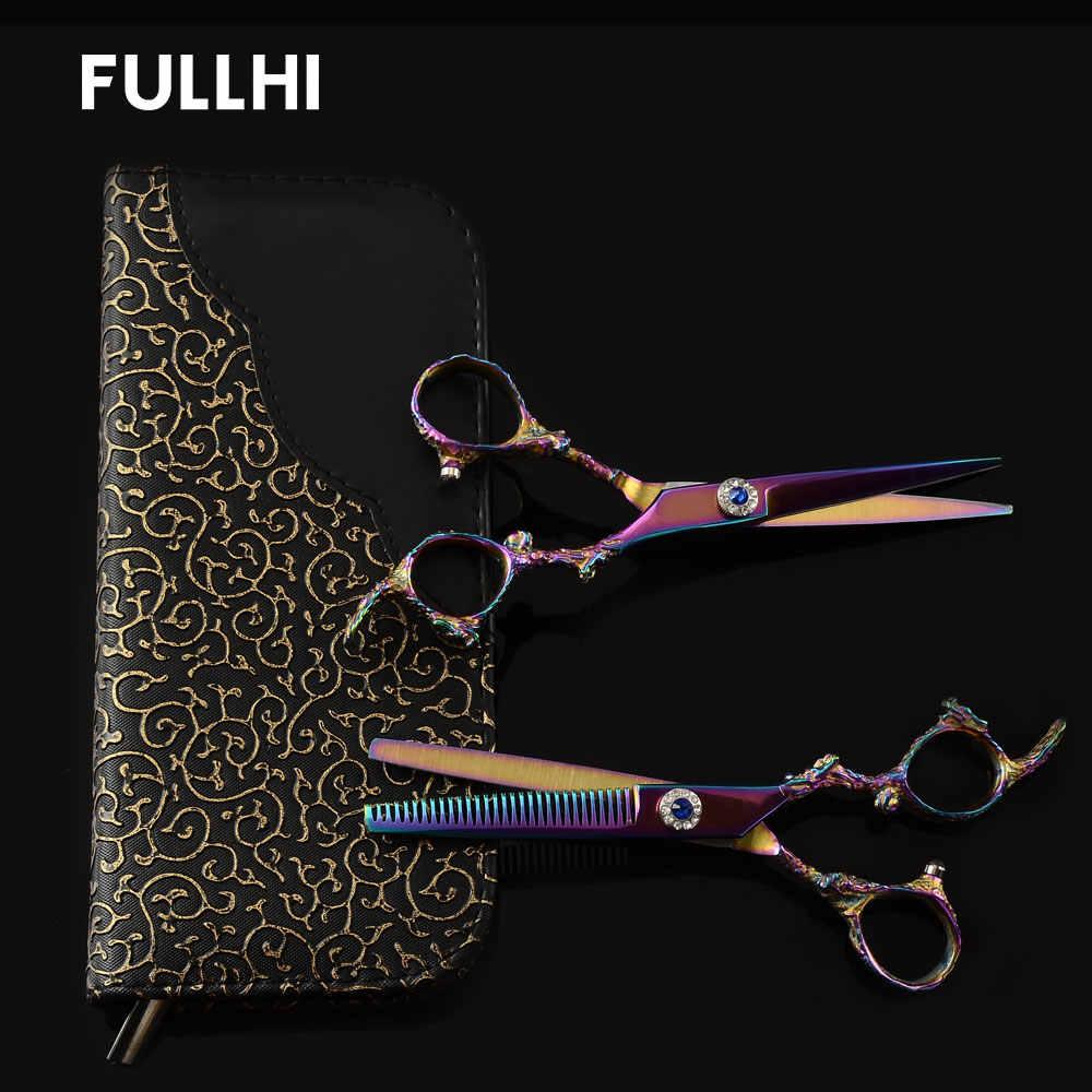 Stainless Steel Dragon Handle Hairdressers Scissors Barber Razor