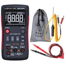 RM409B Цифровой мультиметр Кнопка 9999 отсчетов с аналоговым графом AC/DC Напряжение Амперметр Ток Ом Авто/руководство