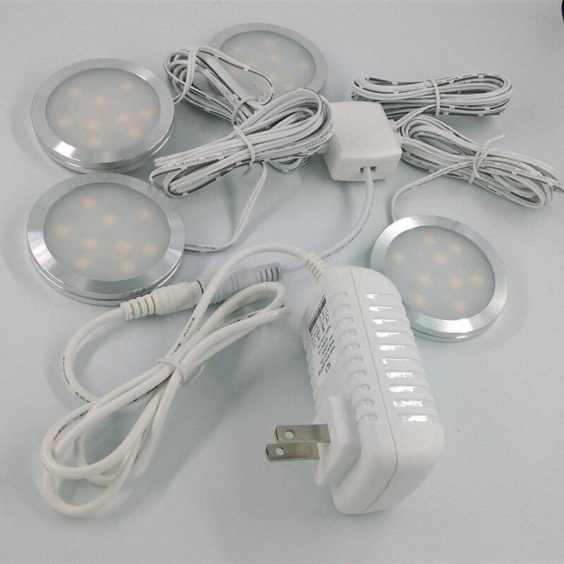 4 pack led home küche unter kabinett licht lampen küche schrank ...