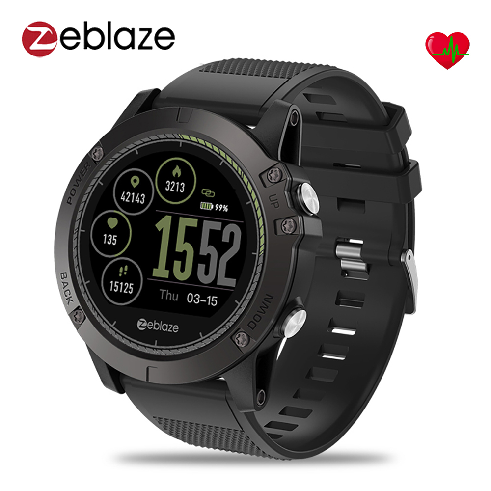 Zeblaze VIBE 3 HR Smart Watch 1.22inch IPS Round Screen Support Heart Rate Monitor Pedometer SmartWatch Men For IOS Android g6 tactical smartwatch