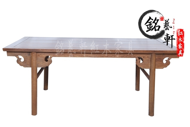 Wenge painted mahogany furniture of Ming and Qing classical text reads text wood painting calligraphy painting tables antique ta