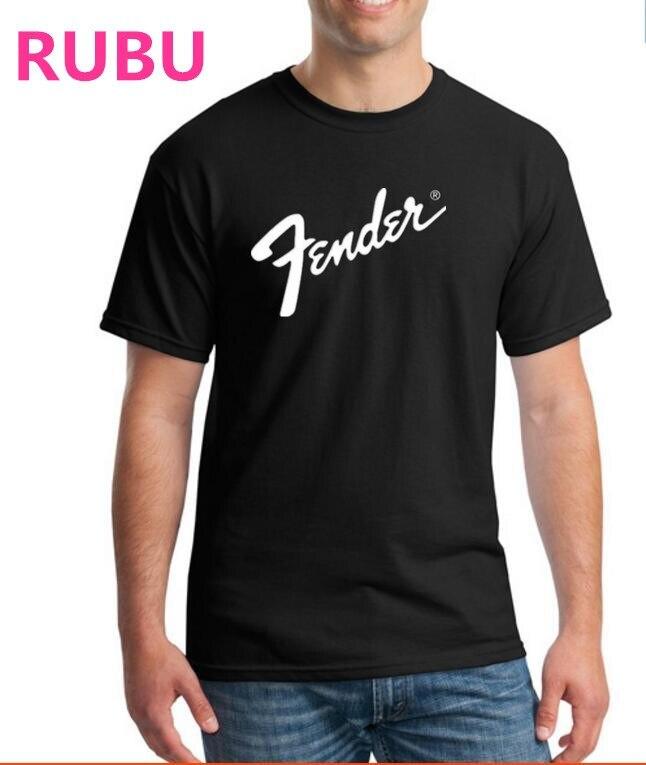 2017 RUBU גיטרה פנדר חולצת טריקו כושר - בגדי גברים