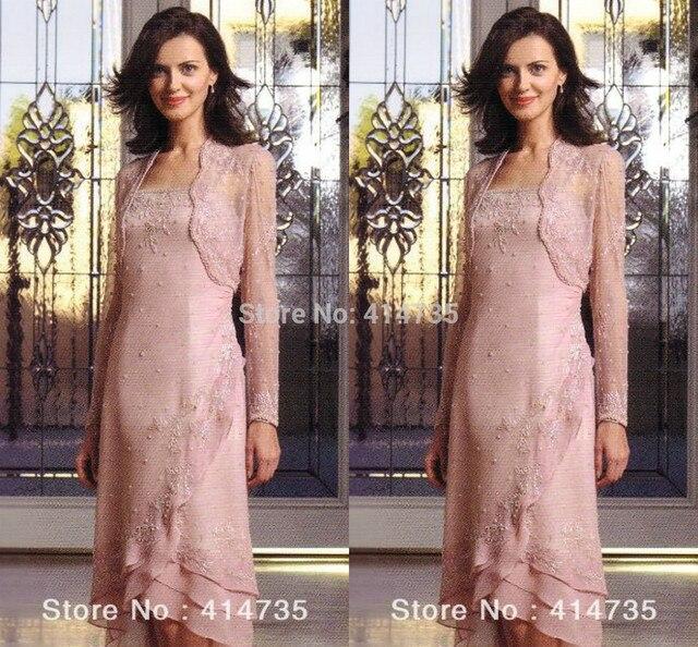 Elegante Moderno Plus Size Rosa Madre de la Novia/Novio Vestidos de ...