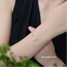XIYANIKE – bracelet de cheville en argent Sterling 925 pour femmes, bijoux de cheville à double cercle, à la mode