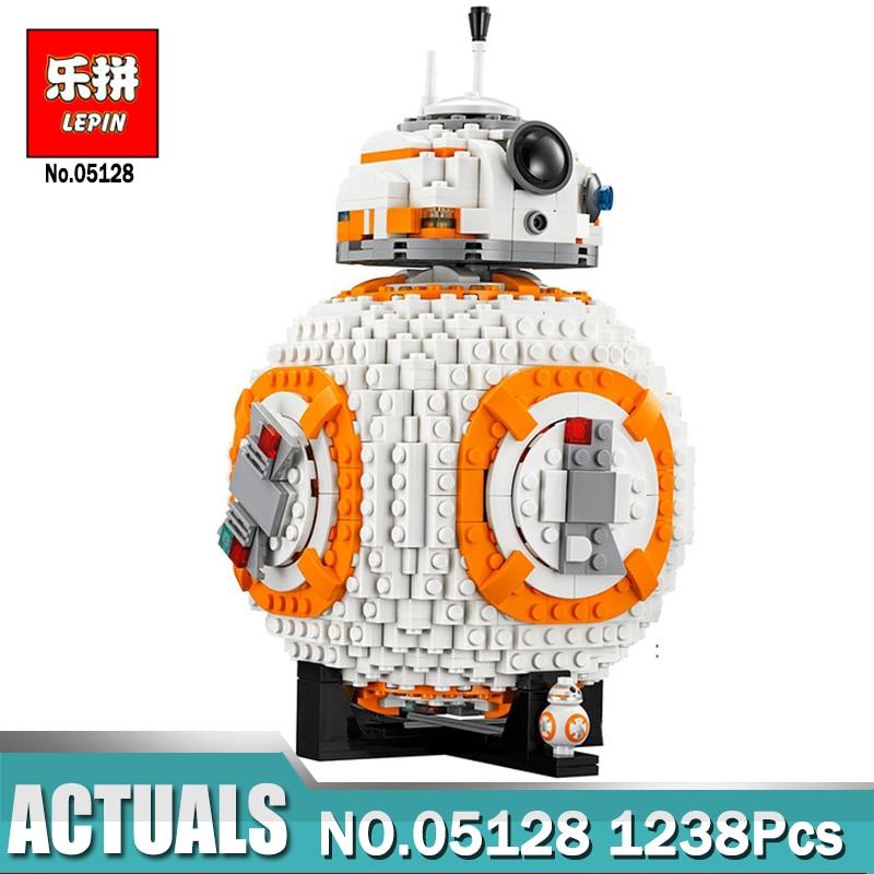 Lepin 05128 Star-Wars BB8 Robot Set Genuine 1238Pcs Star Plan legoings Series 75187 Set Building Blocks Bricks Toys for Boy конструктор lepin star plan истребитель набу 187 дет 05060