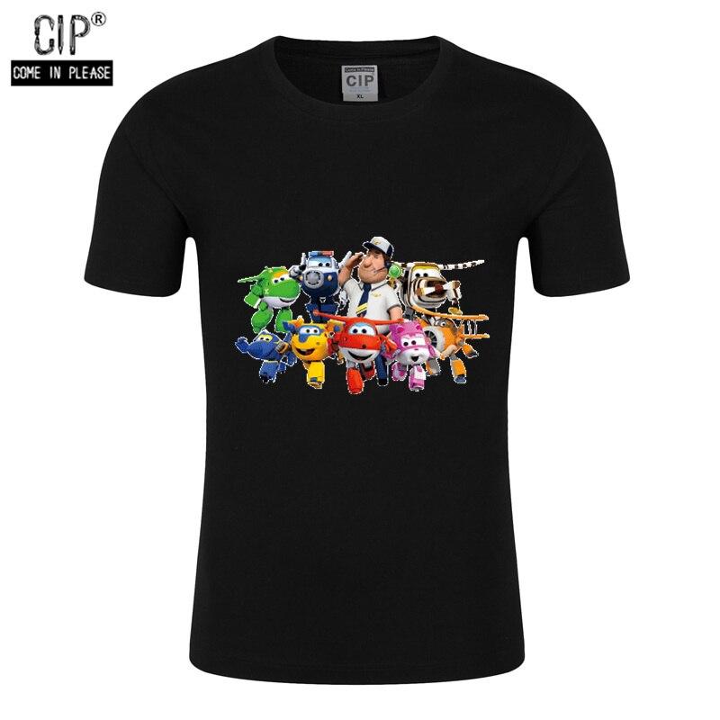 100% Cotton Super Wings Clothes Korean Kids T-shirt Cartoon Tshirt Girl Kids Kinderkleding Jongens Brand Children T Shirts Tops