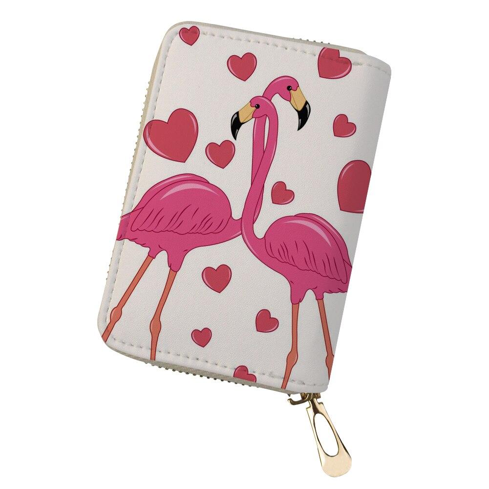 Colorful Deer Design Credit Card Holder Cute Flamingo Unicorn Print Cover Cardholder For Girls Pu Leather Dustproof Wallet 18